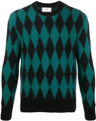 Ami Crew Neck Diamond Jumper
