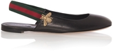 Gucci Bayadere Leather Slingback Flats