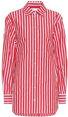 Victoria Beckham Striped cotton poplin shirt