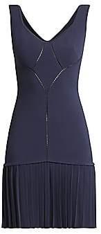 Alaia Women's Sleeveless Pointelle Drop-Waist Dress