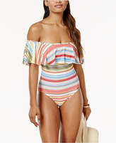 Vince Camuto Cabana Off-The-Shoulder One-Piece Swimsuit