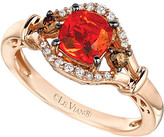 LeVian Le Vian Chocolatier 14K Rose Gold 0.71 Ct. Tw. White & Brown Diamond & Fire Opal Ring