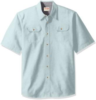 Wrangler Authentics Men's Big-Tall Short Sleeve Classic Twill Shirt