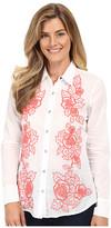 Stetson White Voile Long Sleeve Woven Shirt