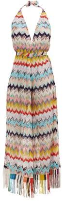 Missoni Mare Zigzag-print Pointelle-knitted Jumpsuit - Multi