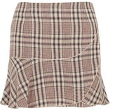 Etoile Isabel Marant Jevil Plaid Linen Mini Skirt