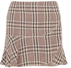 Etoile Isabel Marant Jevil Plaid Linen Mini Skirt