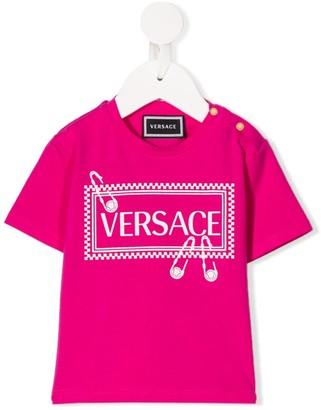 Versace crew-neck logo T-shirt