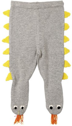 Stella Mccartney Kids Dragon Cotton Blend Tricot Knit Tights