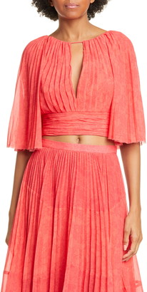 AMUR Deana Pleated High/Low Maxi Skirt