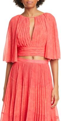 AMUR Deana Pleated High/Low Maxi Skirt