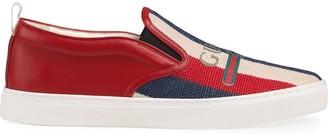 Gucci logo Sylvie slip-on sneakers