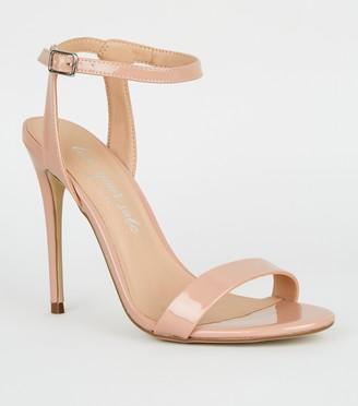 New Look Patent 2 Part Stiletto Heels