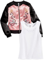 Beautees 2-Pc Bomber Jacket & Tank Top Set, Big Girls (7-16)