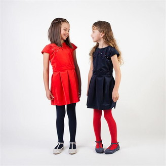 Carrément Beau Girls Red Velvet Dress