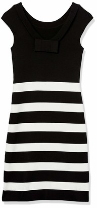 Anne Klein Women's Striped Dress with Back Bow