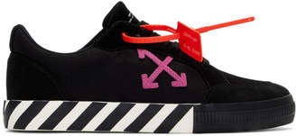 Off-White Off White Black and Pink Low Vulcanized Sneakers