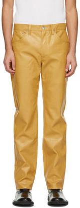 Séfr Yellow Faux-Leather Sin Pants