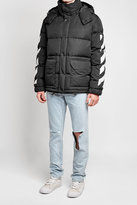 Off-White Quilted Down Jacket with Hood