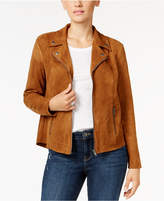 Style&Co. Style & Co Faux-Suede Moto Jacket, Created for Macy's