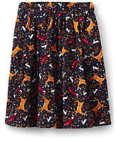Lands' End Girls Cord Midi Skirt-Dog Cat Applique
