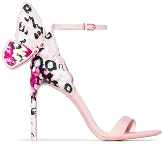 Sophia Webster Chiara 100mm butterfly sandals
