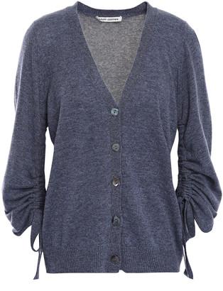 Cotton By Autumn Cashmere Ruched Cashmere Cardigan
