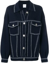 Barrie stitch-detail denim jacket
