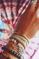 Pura Vida Platinum Bead Bracelet in Light Brown