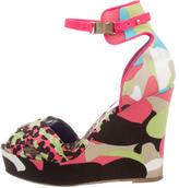 M Missoni Canvas Wedge Sandals