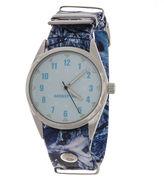 JCPenney Mossy Oak Womens Blue Leather Watch