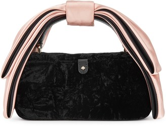 Kate Spade Bowie black velvet cross-body bag
