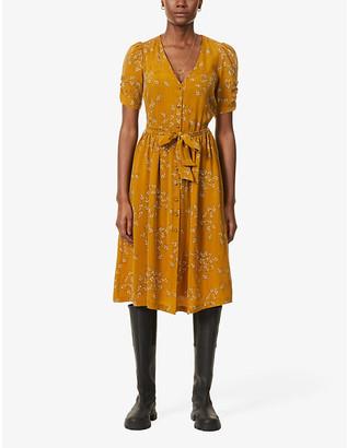 Sessun Roselili graphic pattern woven midi dress