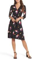 Leota Women's Print Jersey Faux Wrap Dress