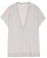 Brunello Cucinelli Wool and cashmere short-sleeved sweater