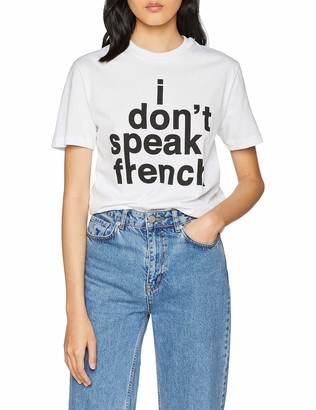 French Connection Women's Short Sleeve Crew Neck French Slogan T-Shirt
