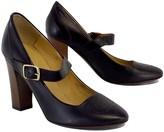 Bettye Muller Dark Brown Leather Mary Janes