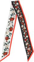 Dolce & Gabbana - rose print neck sca