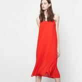 Maje Long pleated dress