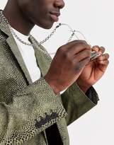 Asos Design ASOS DESIGN chunky sunglasses chain in silver tone