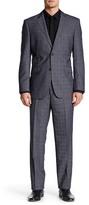 English Laundry Grey Plaid Two Button Notch Lapel Suit