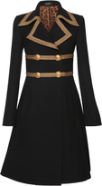 Dolce & Gabbana Gold-Trimmed Double-Breasted Coat