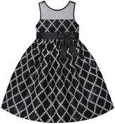 Girls 7-16 & Plus Size American Princess Glitter Square Illusion Dress