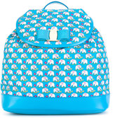 Salvatore Ferragamo Kids - elephant print backpack - kids - Polyester - One Size