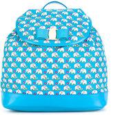 Salvatore Ferragamo Kids elephant print backpack
