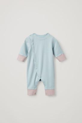 Cos Color-Block Cotton Babygrow