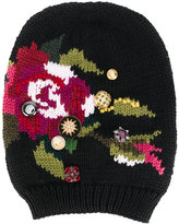 Dolce & Gabbana floral embroidered beanie