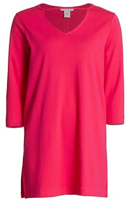 Joan Vass V-Neck Cutout Tunic