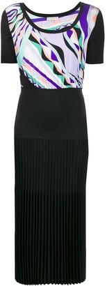 Emilio Pucci Burle Print Pleated Dress
