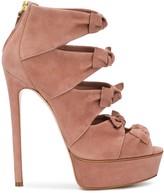 Casadei front bow platform sandals